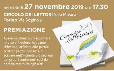 Lagrime e sorrisi – Premiazione concorso letterario – 27 novembre